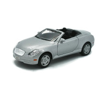 "Lexus SC430 WELLY Diecast 1:36 Scale 4.75"" Silver FREE SHIPPING"