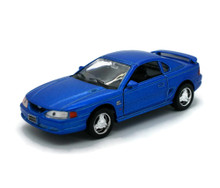 1994 Ford Mustang GT WELLY Diecast 1:32 Scale Blue FREE SHIPPING