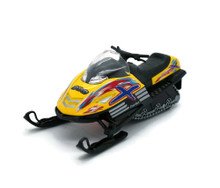 "Snow Tubo 88 Snowmobile KINSMART Diecast 5.25"" Yellow FREE SHIPPING"