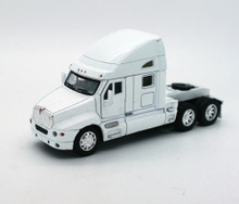 KENWORTH T2000 Cab Tractor KINSMART Diecast 1:66 Scale White FREE SHIPPING