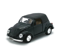 Volkswagon VW Convertible Beetle SUNNYSIDE Diecast 1:32 Scale Black FREE SHIPPING