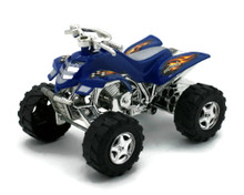 "ATV Friction Powered Plastic 4 1/4"" Model Blue"