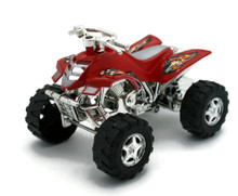 "ATV Friction Powered Plastic 4 1/4"" Model Red"