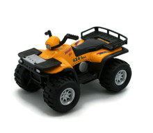 "4x4 Sport Quad Runner Diecast 4 1/4"" Model Yellow"