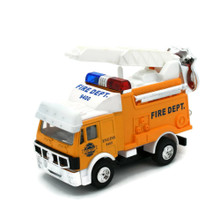 Toy Fire Truck with Pull Back Action Lights and Sound 4 1/2""
