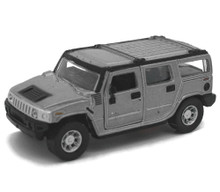 Hummer H2 SUV Maisto Diecast 1:46 Scale Silver Grey FREE SHIPPING