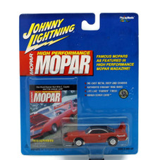1970 Plymouth Superbird JOHNNY LIGHTNING MOPAR MAGIZINE Diecast 1:64 Red