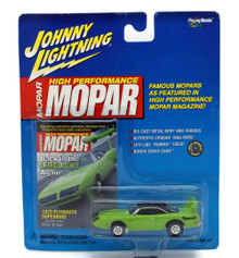 1970 Plymouth Superbird JOHNNY LIGNING MOPAR MAGIZINE Diecast 1:64 Lime