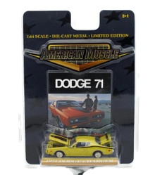 1971 Dodge Charger ERTL AMERICAN MUSCLE Diecast 1:64 Scale Yellow