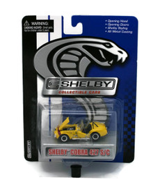 Shelby Cobra 427 SC Yellow SHELBY COLLECTIBLES Diecast 1:64 Scale FREE SHIPPING