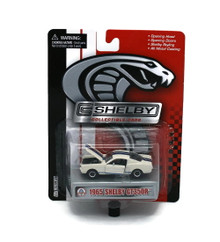 1965 Ford Shelby GT350R SHELBY COLLECTIBLES Diecast 1:64 White FREE SHIPPING