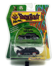 1940 Chevy Sedan SHOW RODZ Diecast 1:64 Scale Black FREE SHIPPING