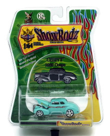 1939 Chevy Coupe SHOW RODZ Diecast 1:64 Scale Blue FREE SHIPPING