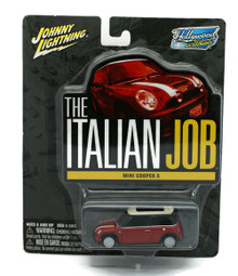 The ITALIAN JOB Mini Cooper S Red Johnny Lignting Diecast 1:64 FREE SHIPPING