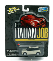 The ITALIAN JOB Mini Cooper S White Johnny Lignting Diecast 1:64 FREE SHIPPING