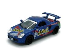 Toyota MR2 Street Fighter Kinsmart Diecast 1:32 Pull Back Blue FREE SHIPPING