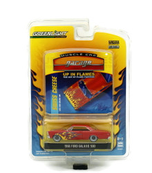 1966 Ford Galaxie 500 Greenlight Muscle Car Up In Flames Diecast 1:64 FREE SHIP