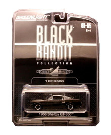1966 Shelby GT-350 Greenlight BLACK BANDIT LE 4250 Diecast 1:64 FREE SHIPPING
