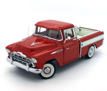 DANBURY MINT 1957 Chevrolet Cameo Pickup Diecast 1:24 Scale with Display Red