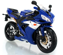 YAMAHA YZF-R1 MAISTO Diecast 1:12 Scale Blue FREE SHIPPING