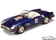 Ferrari GT 250 California 60th Anniversary Hot Wheels  Diecast 1:18 Scale Navy