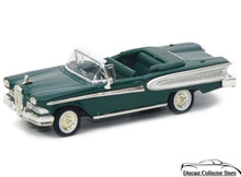 1958 Edsel Citation Convertible ROAD SIGANTURE Diecast 1:43 Scale Green