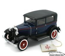 FRANKLIN MINT 1930 Ford Model A Tudor Pebble Beach Ltd Ed Diecast 1:24 Scale