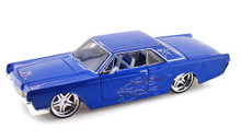 1966 Lincoln Continental MAISTO CUSTOM SHOP Blue w/Pinstriping Diecast 1:26