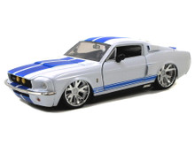 1967 Ford Shelby GT-500 Mustang  JADA BIGTIME MUSCLE Diecast 1:24 Scale White 90057