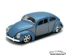 VW Volkswagon Beetle MAISTO G Ridez Diecast 1:24 Scale Grey & Blue