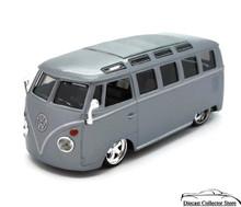 VW Volkswagon Samba Bus Maisto Pro Rodz Diecast 1:25 Silver Grey FREE SHIPPING