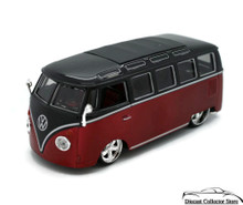 VW Volkswagon Bus G-RIDEZ  Diecast 1:24 Scale Red & Black