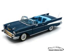 DANBURY MINT 1957 Chevrolet Bel Air Convertible Diecast 1:24 Scale Blue