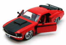 1970 Ford Mustang Boss 429 JADA BIGTIME MUSCLE Diecast 1:24 Scale Red 90348