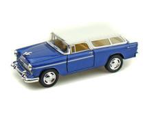 1955 Chevrolet Nomad KINSMART Diecast 1:40 Scale Blue & White