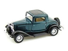 1932 Ford 3 Window Coupe Kinsmart Diecast 1:34 Scale Green