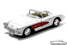 1957 Chevrolet Corvette KINSMART Diecast 1:34 Scale White