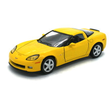 2007 Chevrolet Corvette Z06 Kinsmart Diecast 1:36 Scale Yellow FREE SHIPPING