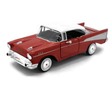 1957 Chevrolet Bel Air MOTORMAX Diecast 1:24 Scale Red & White