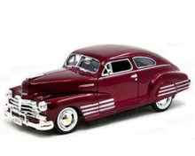 1948 Chevrolet Aerosedan Fleetline Diecast1:24 Scale Metalic Red