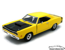 1969 Dodge Coronet SUPER BEE MotorMax Diecast 1:24 Scale Yellow