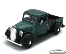 1937 Ford Pickup MOTORMAX Diecast 1:24 Scale Green & Black