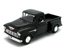 1955 Chevrolet 5100 Stepside Pickup MOTORMAX Diecast 1:24 Scale Black