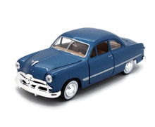 1949 Ford Coupe MOTORMAX Diecast 1:24 Scale Blue