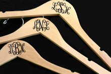 Monogrammed Bridal Party Hangers