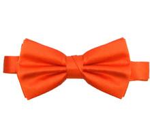 Orange Luxury Matte Satin Bow Tie with Adjustable Clasp