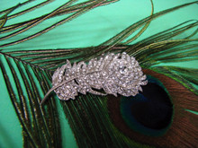 Delicate Peacock Feather Shoe Clip or Brooch