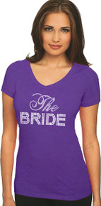 Big Bling Bridal Party V-Neck T-Shirt