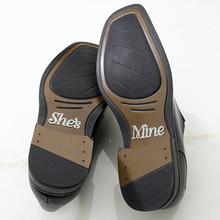 She's Mine Groom Shoe Stickers