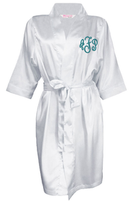 Monogrammed Satin Bridal Party Robes
